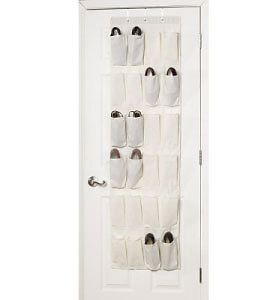 Canvas Over The Door Hanging 24 Shoe Pocket Organizer from Household Essentials