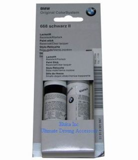 BMW Genuine Jet Black Touch Up Paint Color Code 668