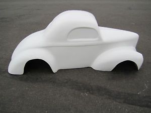 1941 Willys Coupe Pedal Car Hot Rod Stroller 1 4 Scale Fiberglass Body Gasser