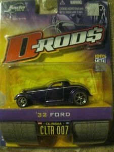 Jada Toys 1/64 D Rods 2005 Wave 1 32 Ford Diecast Car Purple