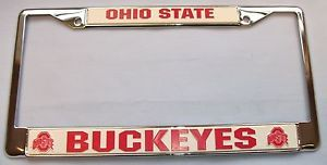 Ohio State Buckeyes NCAA Chrome Car Truck License Plate Tag Frame