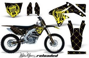 AMR Racing Dirt Bike MX Number Plate Sticker Decal Kit Suzuki RMZ 450 08 12 RYK