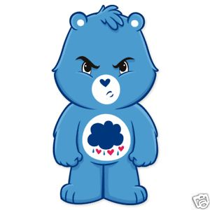 "Care Bears Grumpy Bear Bumper Sticker 3"" x 6"""