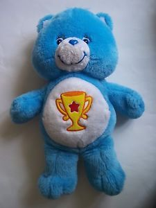 "Care Bear Champ Bear Blue Care Bear 13"" Plush 2003"