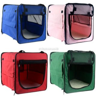 Portable Folding Dog Cat Pet Bed House Soft Carrier Crate Cage Carry Case FV88