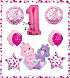 Care Bears Pink Birthday Party First One 1st Balloons Supplies Decorations New