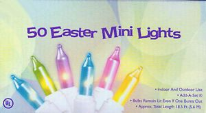 Pastel Easter Mini String Lights Multi Indoor Outdoor 50 Light