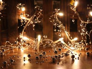 Silver Bead Warm White LED String Lights Christmas Lights Party Lights