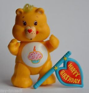 "Complete Cupcake Happy Birthday Care Bear Vintage 3"" Poseable Accessory Figure E"