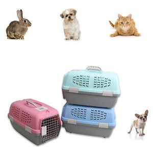Pet Carrier Portable Dog Cat Crate Travel Small Light Weight Cage Kennel Case
