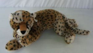 Ty Super Sonic Leopard Cheetah Cat Toy Brown Black Soft Plush Stuffed Animal 24""