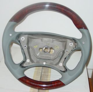 Mercedes R230 Steering Wheel Sport Leather Wood