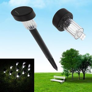 White Color LED Solar Lawn Light Garden Outdoor Landscape Stake Path Lamp
