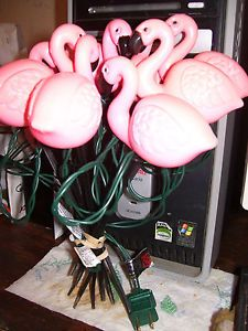 Pink Flamingo Lights Party String Lights camper R V Patio