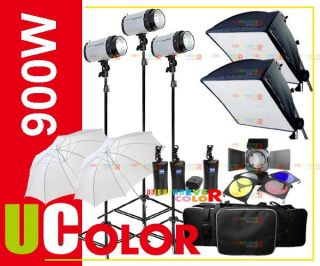 900W Strobe Studio Flash Light Kit Lighting for Canon 7D 60D