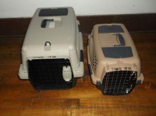 2 Pet Carriers Small Dog Large Cat Pet Mate
