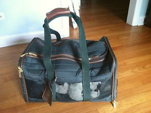 Original Pet Sherpa Travel Bag Dog Carrier Soft Crate Airline Approved EUC