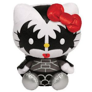 Ty Hello Kitty Kiss Demon Cat Kitten by Samrio Beanie Babies Stuffed Plush Toy