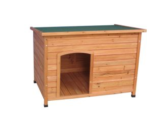 New x Large 1172x820x865 mm Red Cedar Timber Log Wooden Cabin Dog Kennel House