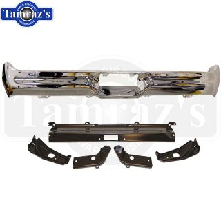 1964 Ford Galaxie Chrome Rear Bumper 5 PC Bracket Set Brand New Tooling