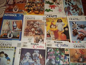 Assorted Craft Patterns Frog Monkey Dog Cat Horse Mouse Duck Bunny Chicken New