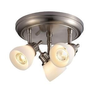 Hampton Bay 3 Light Satin Nickel Directional Ceiling Track Lighting Fixture