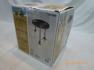 Hampton Bay 759885 Westminster Track Canopy Light Lighting Bronze C
