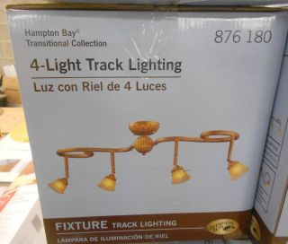 "Hampton Bay 4 Light Track Lighting Ceiling Fixture Gold Leaf 39 5"" Long New"