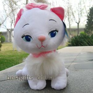 Cute Disney White Marie Cat 27cm Stuffed Animals Plush Doll Soft Toys New