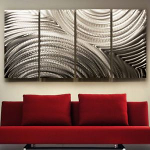 Metal Modern Abstract Wall Art Sculpture Decor Follow Through Jon Allen
