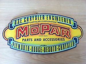 Mopar Parts Accessories Metal Sign Plymouth Dodge DeSoto Chrysler Neon Looking