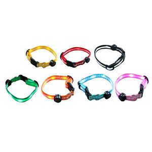 LED Flashing Light Up Dog Pet Saftey Collars Reflective Adjustable Size
