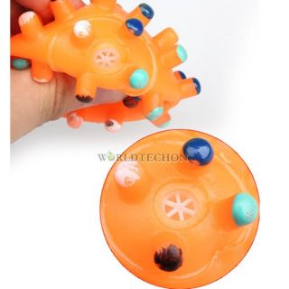 Hot Colorful Pet Dog Cat Lovely Squeaky Squeaker Quack Sound Toy Chews Ball