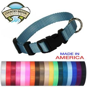 Economy Nylon Dog Collars Various Sizes Colors Available