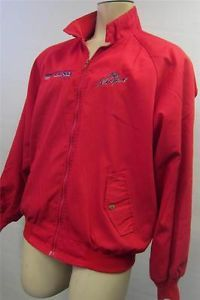 Mens Lund Boats Pro Angler Zip Up Red Jacket Coat Large Boat Fishing Clean
