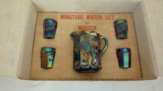 Miniature Mosser Carnival Glass Water Set