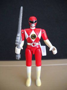 1993 Bandai Red Power Ranger w Sword Action Figure