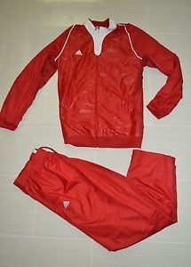 New Adidas Crazy Light Track Suit Men's XL Basketball Woven Jacket Pants Red