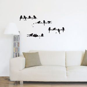 Little Birds Adhesive Removable Wall Decor Accents Graphic Sticker Decal Vinyl