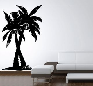 Large Vinyl Wall Art Decal Coconut Palm Tree Forest Removable Sticker 1501