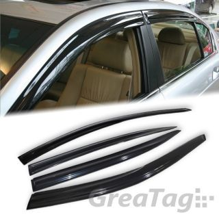 08 12 Honda Accord Sedan 4DR Window Visor Vent Guard Shade Deflector Smoke Black