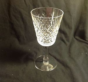 "Waterford Crystal Cut Glass Red Wine Glass Water Signed 6"" Tall Alana Pattern"