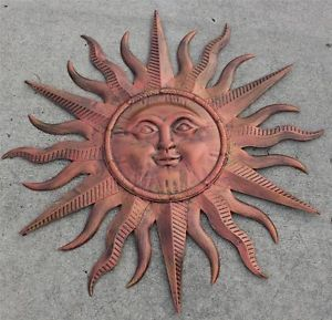New Large Metal Bronze Sun Face Celestial Wall Hanging Art Decor Picture 37""