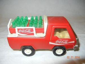 Vintage Coca Cola 1982 Buddy L Truck Bottle Tray Crates Steel