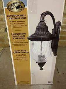Hampton Bay Wall Mount Oil Rubbed Bronze Outdoor Porch Light NIB 878 457