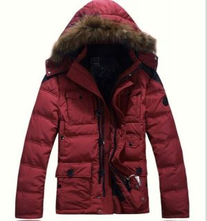 New Mens Duck Down Jacket Parka Winter Warm Hoodie Coat Puffa Black Red M 3XL