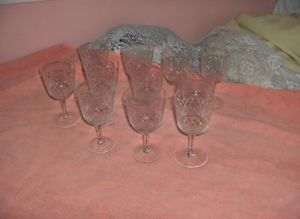 11 Antique Vintage Fine Crystal Cut Diamond Water Goblets Glasses Germany
