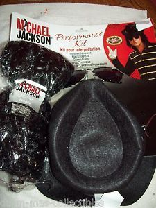 Costume Michael Jackson Performance Kit Accessories Hat Glove Wig Sunglasses