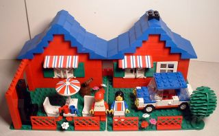 Vintage Custom Lego Set 1980's 560 Town House w Figs Car More