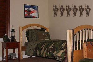 Custom Name Boys Army Room Decor Wall Quote Decal